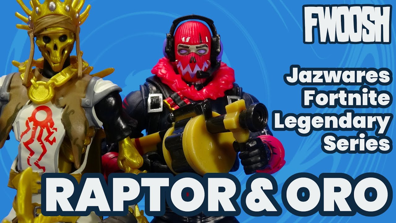 Fortnite Oro and Raptor Glow Jazwares Legendary Series Epic Games Action Figure Review