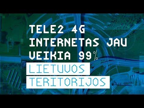 TELE2 inovacijų biuras: TELE2 4G internetas jau veikia 99 % Lietuvos teritorijos