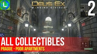 DEUS EX MANKIND DIVIDED: All Collectibles Prague Part 1 - The Zelen Apartments
