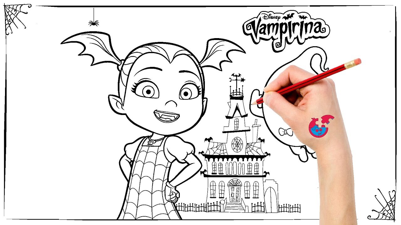 How To Draw Vampirina Learning Drawing Puzzle Kid Youtube