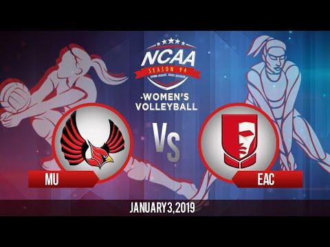 NCAA 94 Women's Volleyball: MU vs. EAC | January 3, 2019