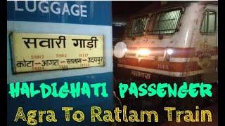 Haldighati Passenger || About Haldighati Passenger || Agra to Ratlam Train || #Agra | #Indianrailway