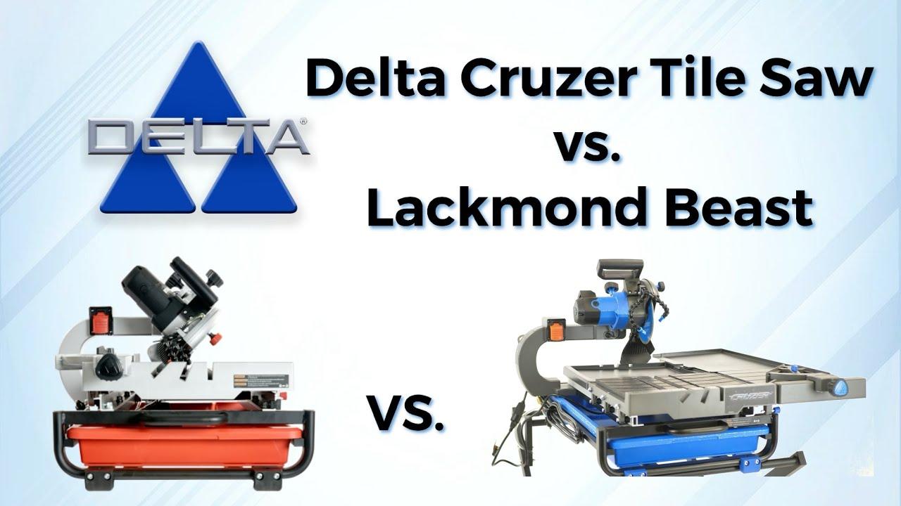 delta cruzer tile saw vs the lackmond beast new upgrades
