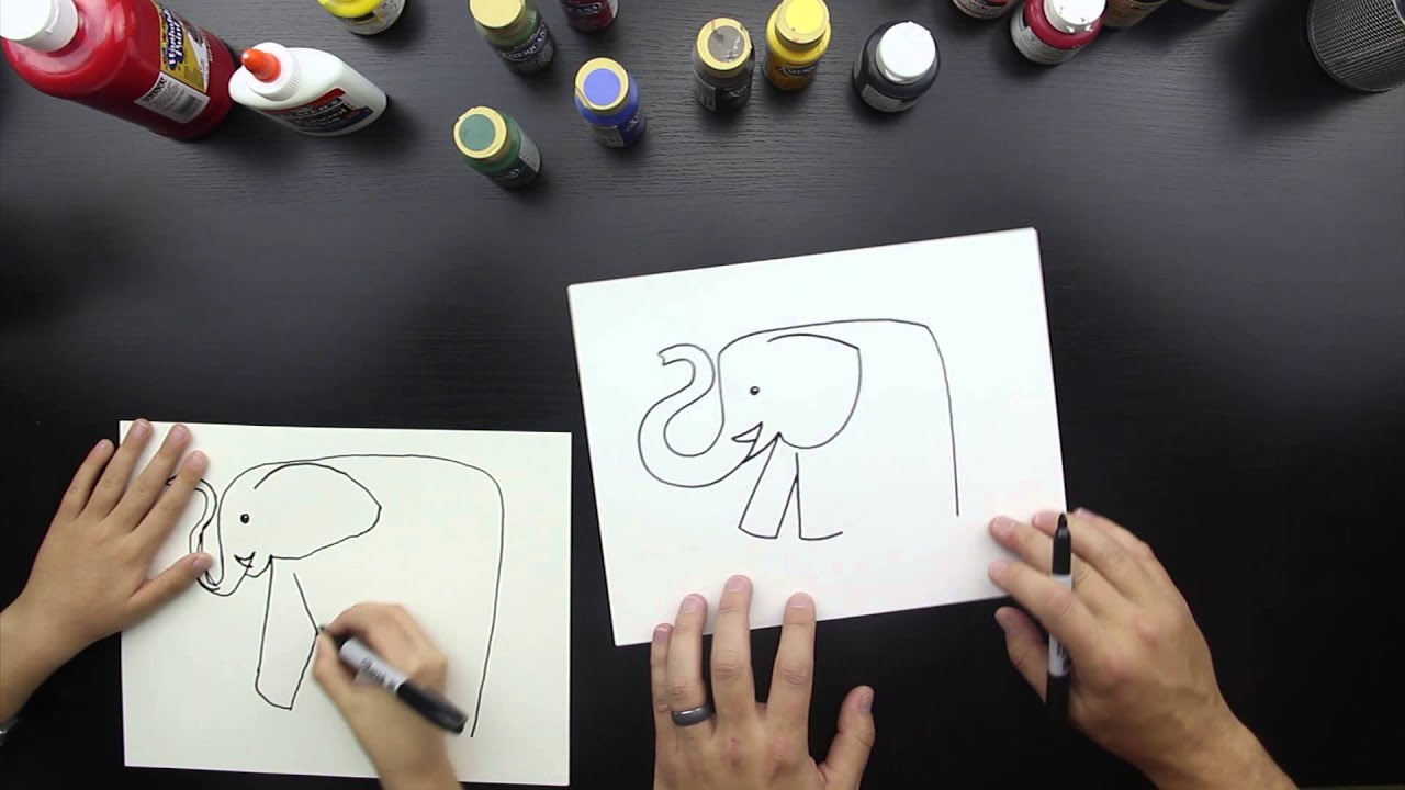 How To Draw An Elephant - YouTube