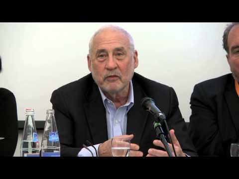 Joseph E Stiglitz at the ICRICT panel in Trento, Italy