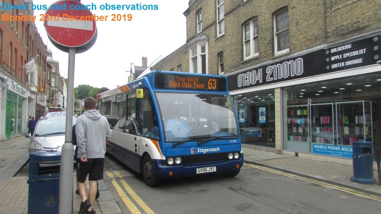 Dover Bus and Coach Observations - Monday 23rd December 2019