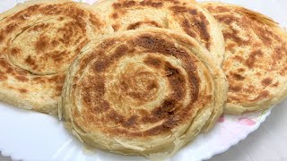 Fateer Waraqi Without Oven Multilayered Naan On Tawa Without Oven نان ورقی در تابه