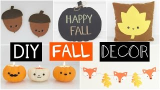DIY FALL ROOM DECOR - Five Easy & Inexpensive Ideas!