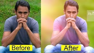 Photoshop Background Mixing and Effects Urdu/Hindi Tutorial