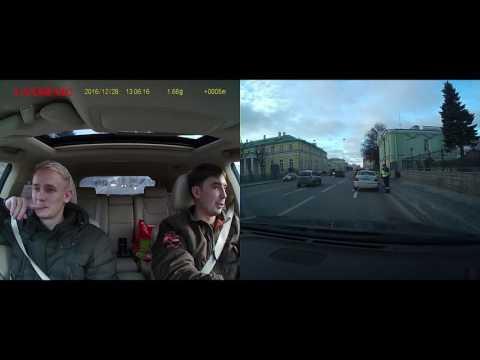 CANSONIC Z1 DUAL GPS пример видео авторегистратора