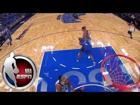 Arron Afflalo throws a punch, Nemanja Bjelica puts Afflalo in headlock during Wolves-Magic | ESPN