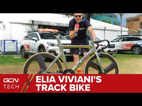 Elia Viviani's De Rosa Track One | Tokyo 2020 Olympic Track Bike?...