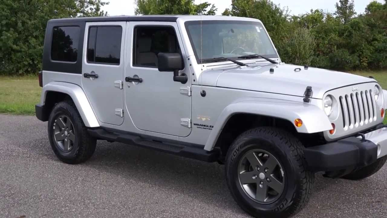 Amazing 2010 Jeep Wrangler Sahara Unlimited For Sale~Two Tops~Sub~Heated Seats~LOW  MILES   YouTube