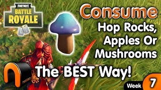 Consume Hop Rocks Apples Or Mushrooms - FORTNITE