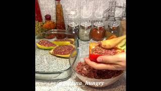 Фаршированный гречкой и мясом перец в духовке