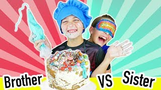 Brother VS Sister Not My Arms Cake Decorating Challenge