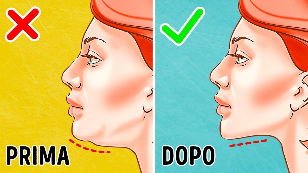 esercizi per assottigliare rapidamente il viso