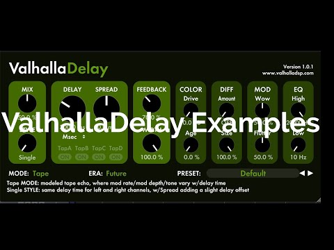 ValhallaDelay by VALHALLA DSP with Ambient Guitars by Spitfire