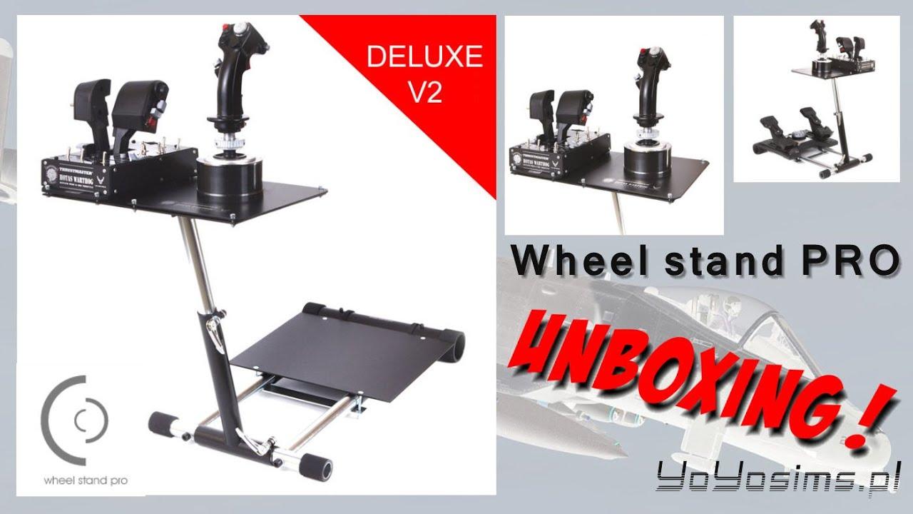wheel stand pro v2 for flight simulators unboxing pl. Black Bedroom Furniture Sets. Home Design Ideas