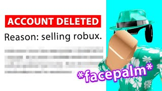 ROBLOX BANNED ME... WHY THOUGH?!