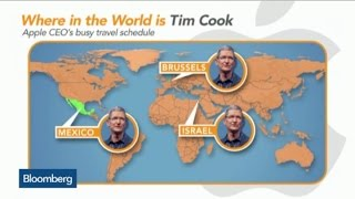 Apple's Tim Cook Hits the Road as Traveling Salesman