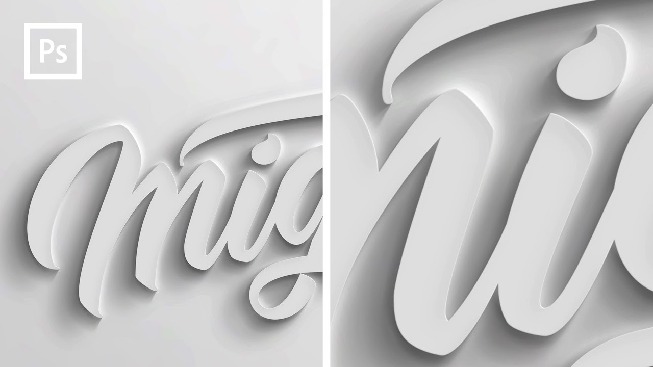 Photoshop Tutorials - How to make 12D text