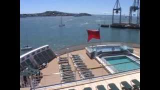Queen Mary 2 ~ Deck 8 Pool 瑪麗皇后二號郵輪 ~ 船尾甲板