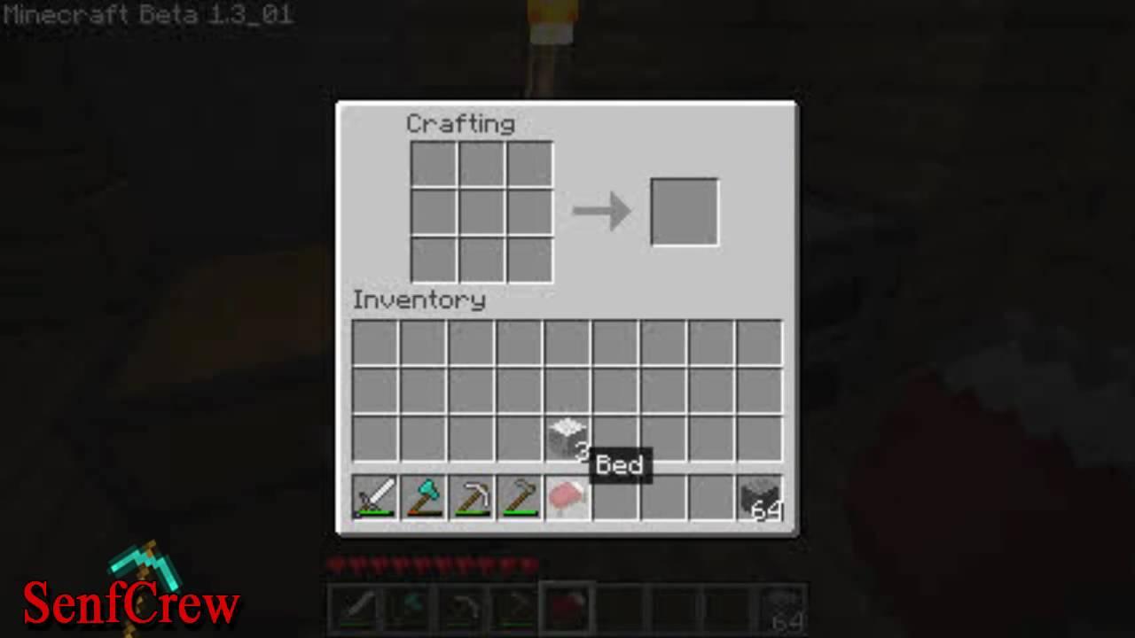 Minecraft 1 3 01 Bett Bauen Tutorial Youtube