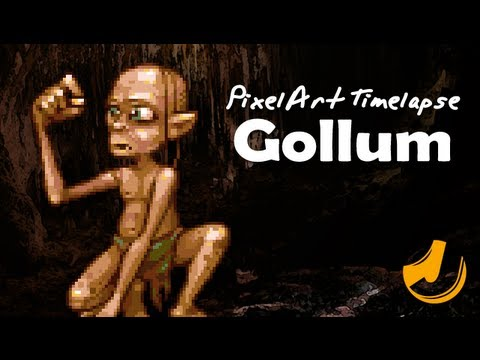 Pixel Art - Gollum