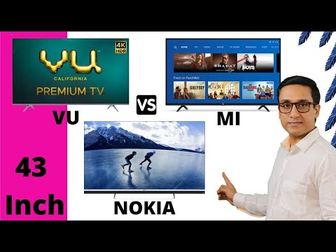 Nokia TV vs VU Premium vs MI TV 43 inch Comparison 🔥🔥 WHICH IS THE BEST ⚡⚡