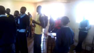 Kenyoro Students sing Freshly Mwamburi