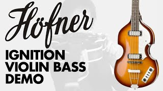 Hofner Ignition Violin Bass (Sunburst) Demo at GAK