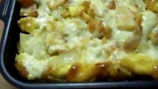 Мясо по французски с картошкой фарш и грибы.Potato casserole recipe Блюдо