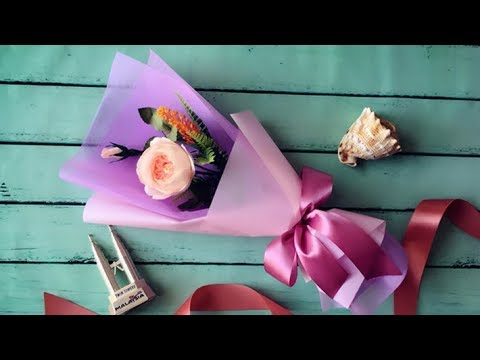 abc-tv-|-how-to-make-flower-bouquet-with-single-rose-#3---craft-tutorial