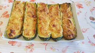 Baked stuffed zucchini : the best recipe in the world, so easy and delicious,all family love it
