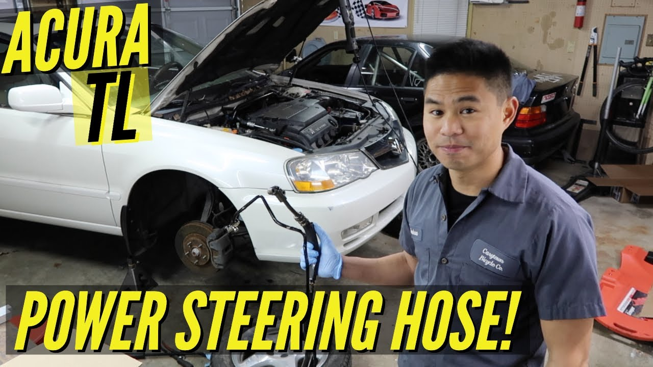 2002 acura tl power steering leak hose replacement [ 1280 x 720 Pixel ]