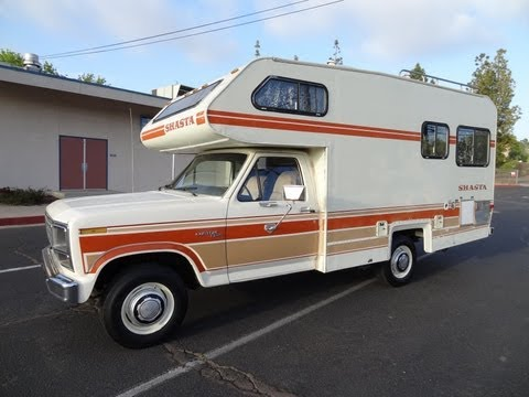 RV Motorhome Class C B Vintage Camper Shasta Chinook F-250 1 Owner Minnie Winnie NR Mint Travel