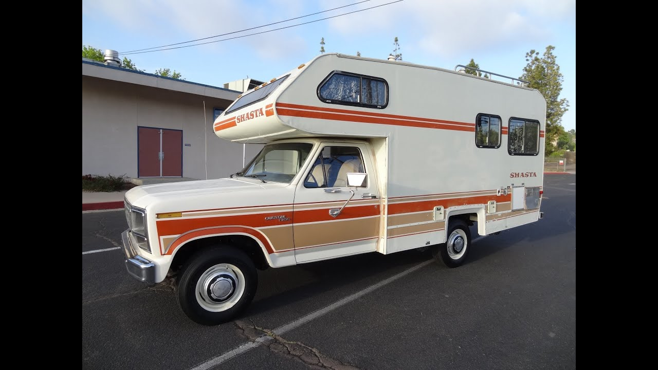 RV Motorhome Class C B Vintage Camper Shasta Chinook F 250 1 Owner Minnie Winnie NR Mint Travel