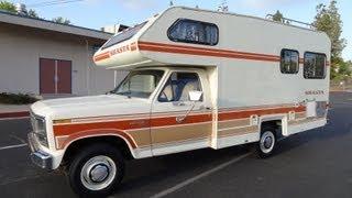 RV Motorhome Class C B Vintage Camper Shasta Chinook F-250 1 Owner Minnie Winnie NR Mint Travel