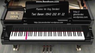 PİYANO DERSLERİ : Bach  Minuet in G    Sol  el yavaş tempo -Taci Hoca - 0543 232 91 22