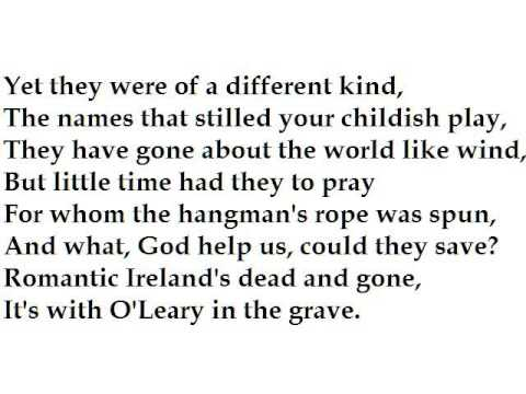 """""""September 1913"""" by W.B. Yeats (read by Tom O'Bedlam)"""