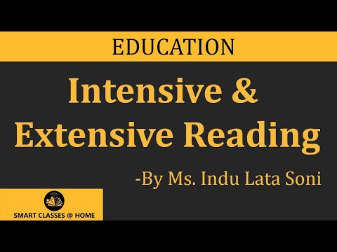 Intensive & Extensive Reading Lecture, BEd  by Indu Lata Soni