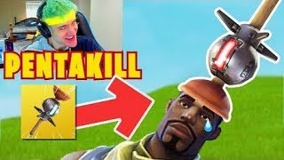 ★NINJA HAS PENTAKILL WITH THE CLINGER GRENADE! NEW RECORD! Fortnite Funny Fails and WTF Moments Ep