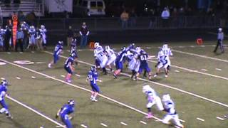 Shamokin Indians vs Shikellamy - Varsity Football - 2011 - Shurock Interception - Again!!