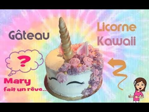 gateau d 39 anniversaire licorne kawaii facile diy kawaii unicorn cake youtube. Black Bedroom Furniture Sets. Home Design Ideas