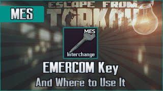 Emercom MES  Key and Use Location - Interchange - Escape from Tarkov Key Guide