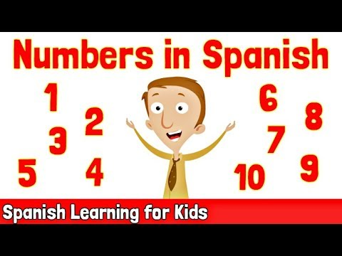 Numbers in Spanish 1-10  Spanish Learning for Kids