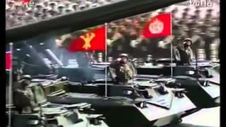 Военный парад в КНДР в честь 100 летия со дня рождения основателя страны — Ким Ир Сена