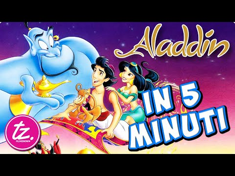 ALADDIN   Raccontato in 5 Minuti - Classico Film Disney