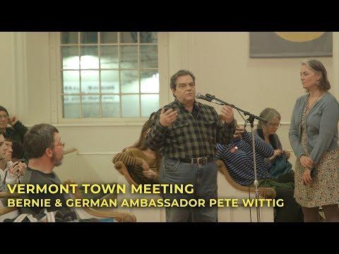 Town Meeting with Sen. Sanders and German Ambassador Pete Wittig